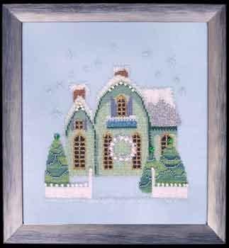 "Схема ""Little Snowy Green Cottage  • Маленький снежный зеленый котедж"" Nora Corbett NC159"