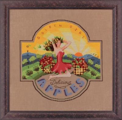 "Схема ""Golden Girl Apples • Золота дівчина"" Mirabilia Designs MD118"