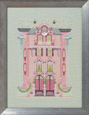 """Схема """"The Pink Edwardian House • Розовый едвардианський дом"""" Nora Corbett NC283"""
