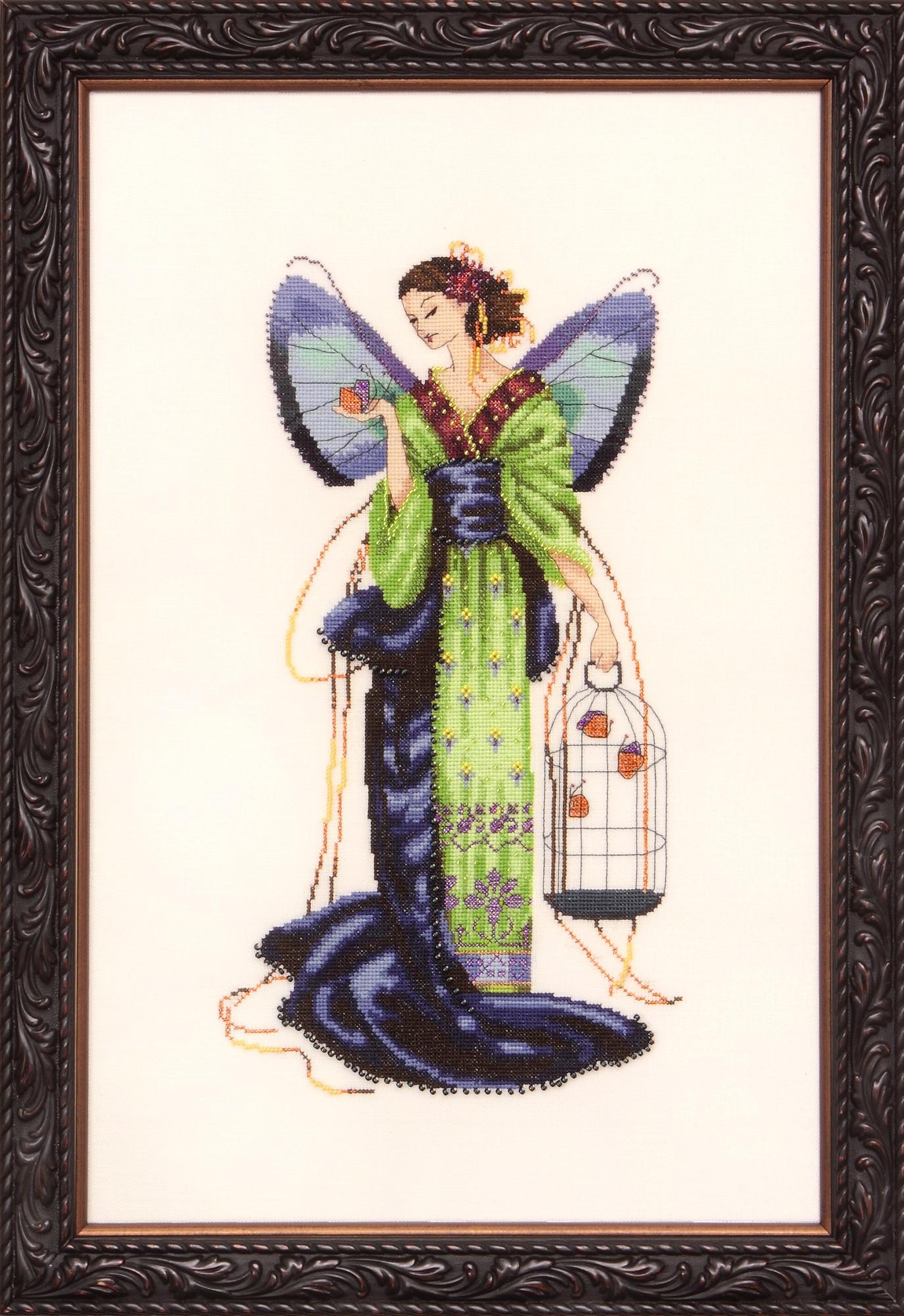 """Схема """"September Sapphire Fairy • Сентябрьская Сапфировая Фея"""" Mirabilia Designs MD114"""