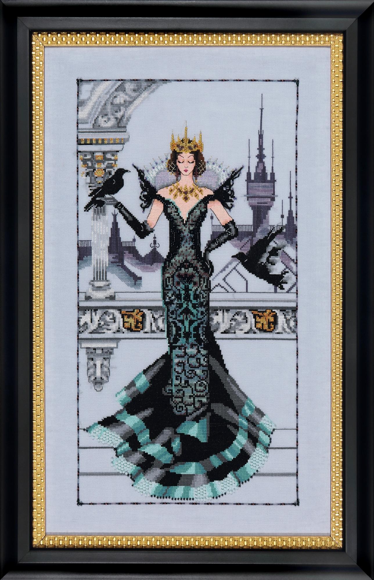 """Схема """"The Raven Queen • Королева Ворон"""" Mirabilia Designs MD139"""
