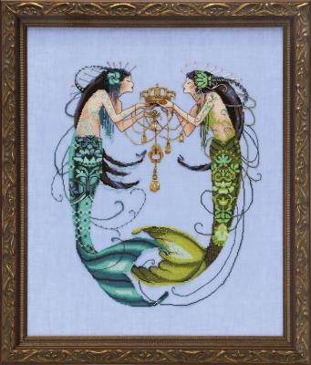 """Схема """"The Twin Mermaids • Русалочки-близнецы"""" Mirabilia Designs MD141"""