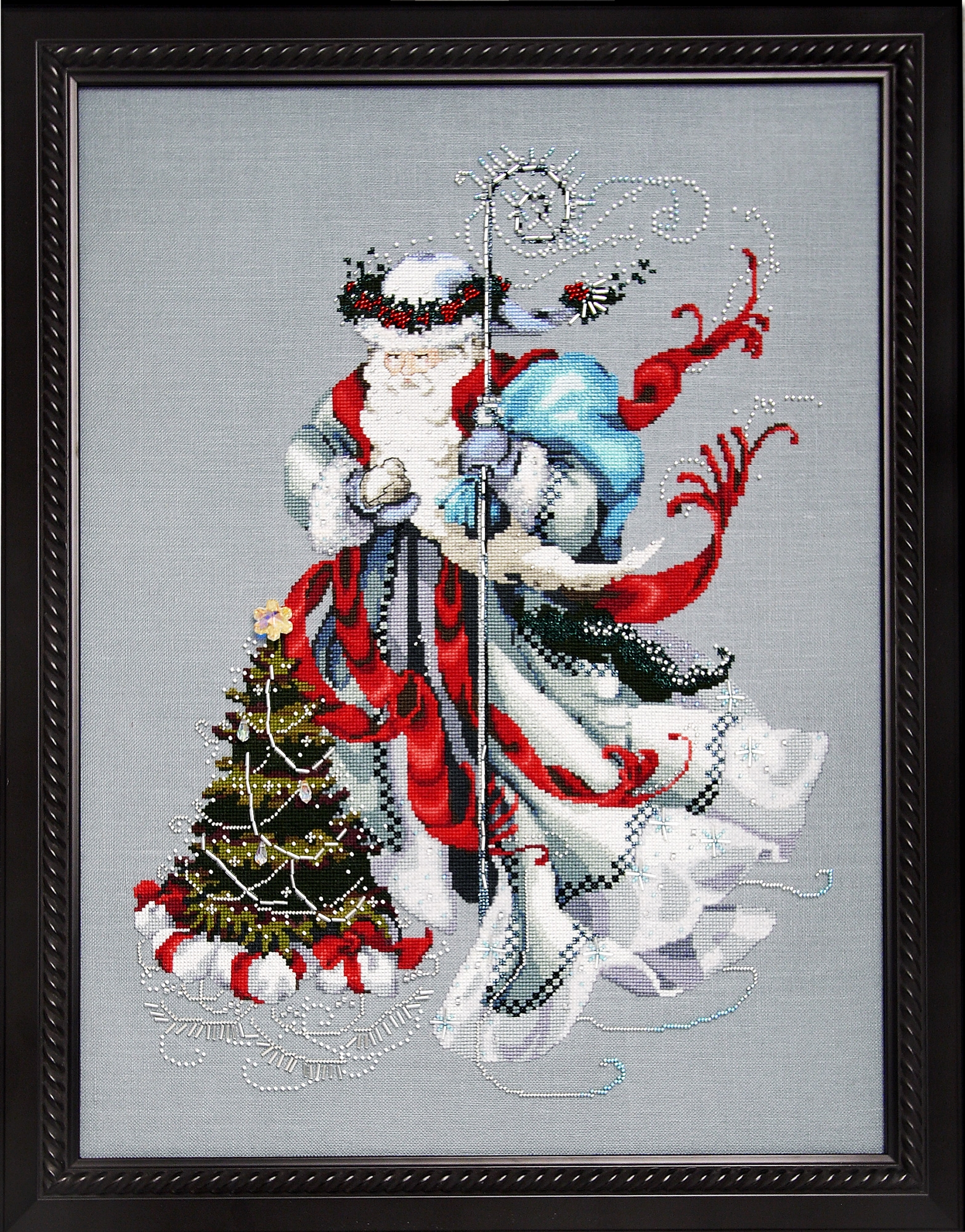 "Схема ""Winter White Santa • Зимний Белый Санта"" Mirabilia Designs MD100"
