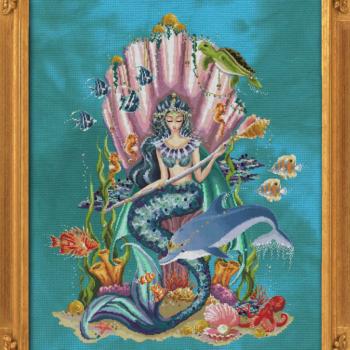 """Схема """"Amphitrite, Queen Goddess of the Sea"""" BELLA FILIPINA BF018"""
