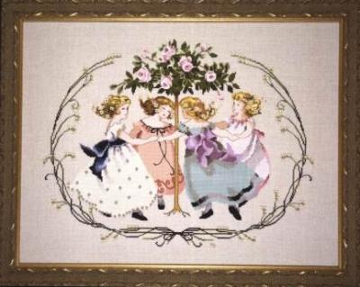 """Схема """"Ring Around The Rose Tree • Кільце навколо трояндового дерева"""" Mirabilia Designs MD76"""