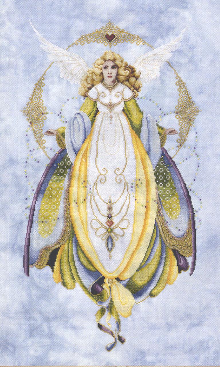 "Схема ""Angel Of Healing • Ангел исцеления"" Lavender & Lace"