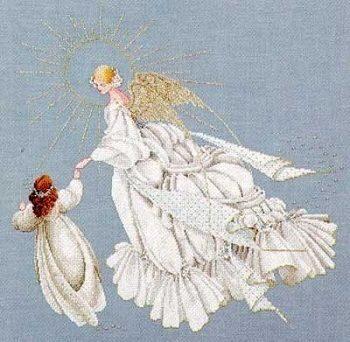 "Схема ""Angel of Mercy • Ангел Милосердия"" Lavender & Lace"