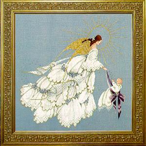 "Схема ""Angel of Mercy 2 • Ангел Милосердия 2"" Lavender & Lace"