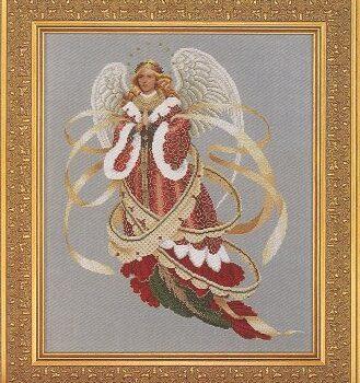 "Схема ""Angel of Christmas • Ангел Рождества"" Lavender & Lace"