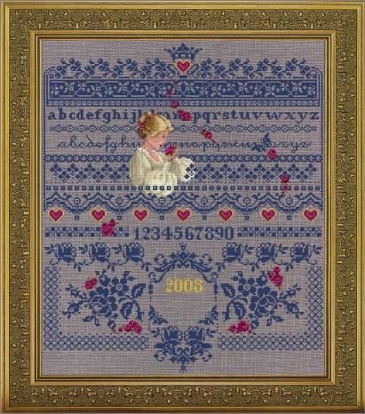 "Схема ""Fallen Roses • Розы Сэмплер"" Lavender & Lace"