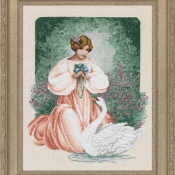 """Схема """"Lady Claire • Леди Клэр"""" Lavender & Lace"""