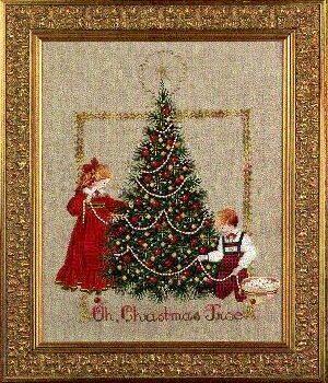 "Схема ""Oh Christmas Tree! • Рождественское дерево"" Lavender & Lace"