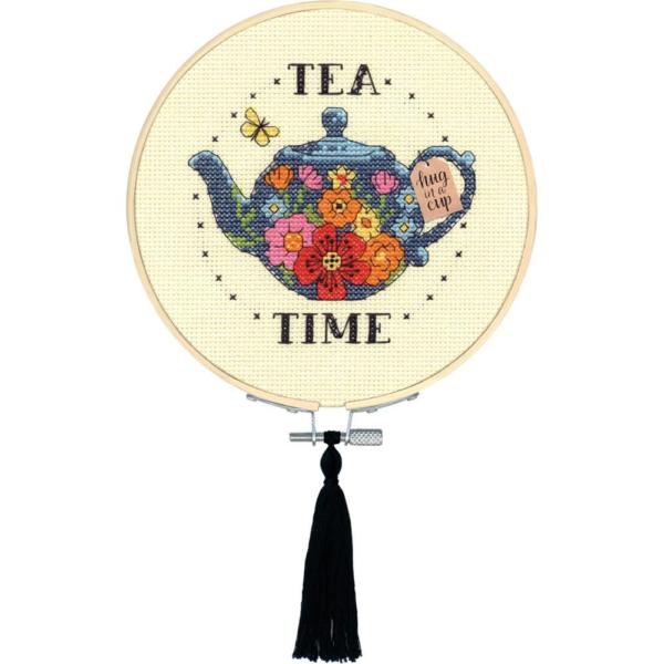 """Набор для вышивания крестом """"Tea Time • Время чая"""" DIMENSIONS"""
