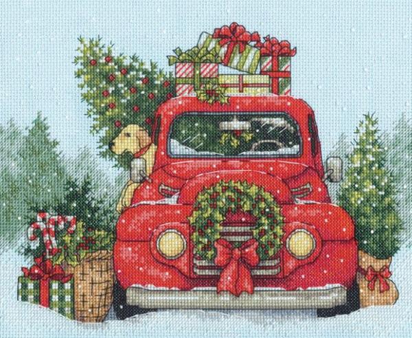 """Набор для вышивания крестом """"Festive Ride • Праздничная поездка"""" DIMENSIONS"""