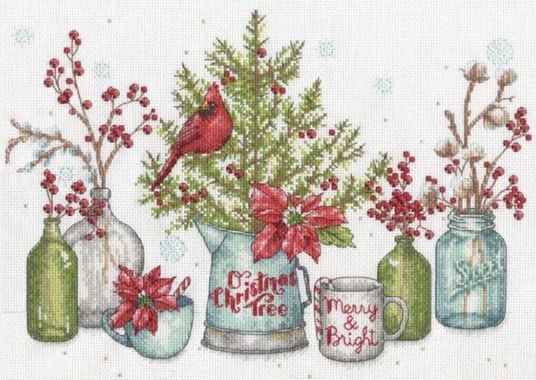 """Набор для вышивания крестом """"Birds And Berries • Птицы и ягоды"""" DIMENSIONS"""