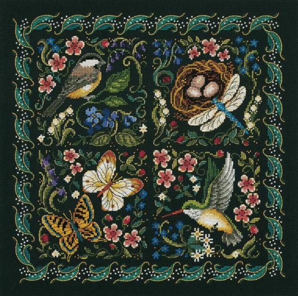 """Набор для вышивания крестом """"The Finery Of Nature • Красота природы"""" DIMENSIONS"""