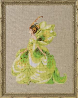 "Схема ""Green Lady Slipper • Зелена леді"" Nora Corbett"