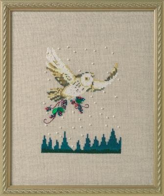 """Схема """"Winter Owl • Зимняя сова"""" Nora Corbett"""