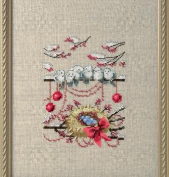"""Схема """"Winter Owl • Зимнее гнездо"""" Nora Corbett"""