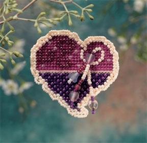 """Набор для вышивания """"Treasured Heart • Ювелирное сердце"""" Mill Hill"""