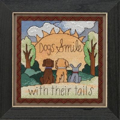 "Набор для вышивания ""Dogs Smile • Улыбка собак"" Mill Hill"