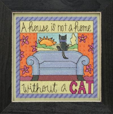 """Набор для вышивания """"Without a Cat • Без кота"""" Mill Hill"""