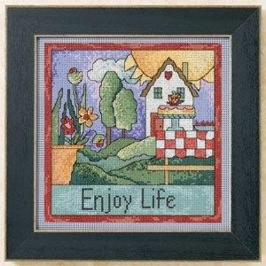 """Набор для вышивания """"Enjoy Life • Наслаждайся жизнью"""" Mill Hill"""