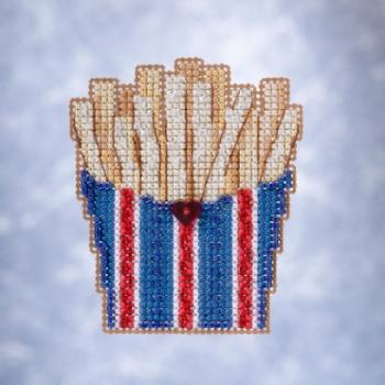 """Набор для вышивания """"French Fries • Картофель фри"""" Mill Hill"""